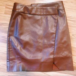 NWOT Lovers + Friends Vegan Leather Skirt